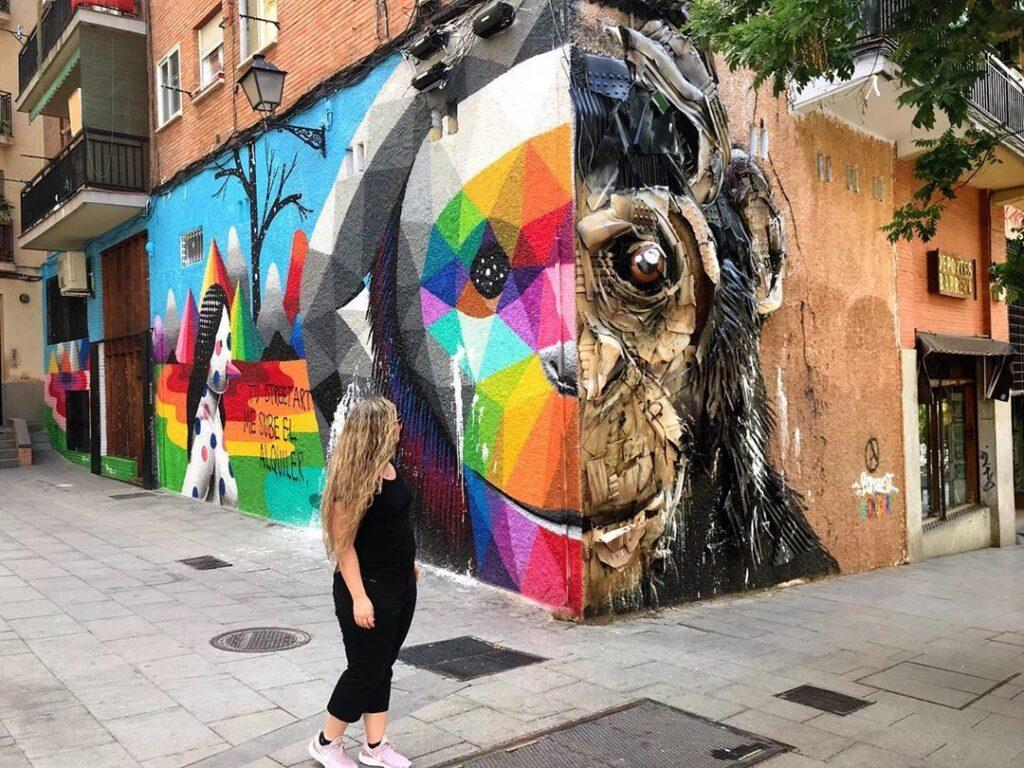Sitios en Madrid para hacer Fotos Urbanas Okuda y Bordalo Madrid