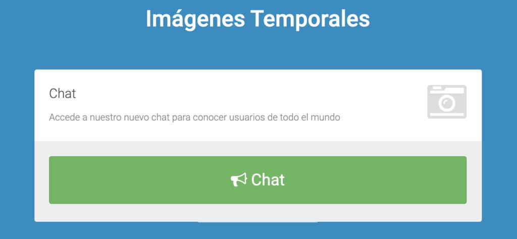 chat de imagenes temporales