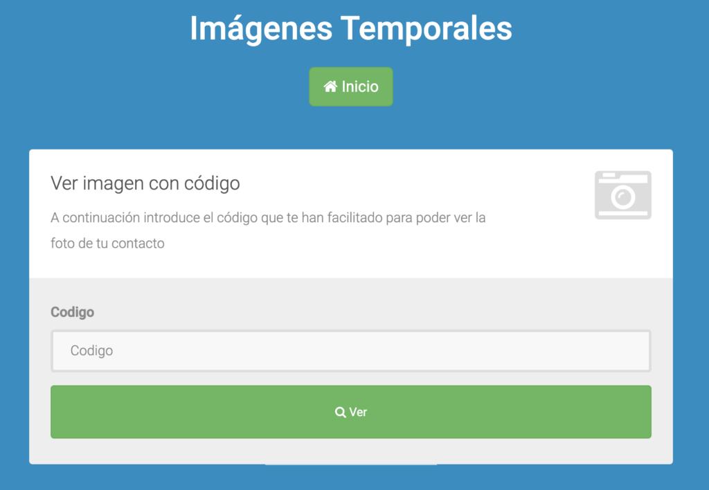 ver imagenes temporales con código